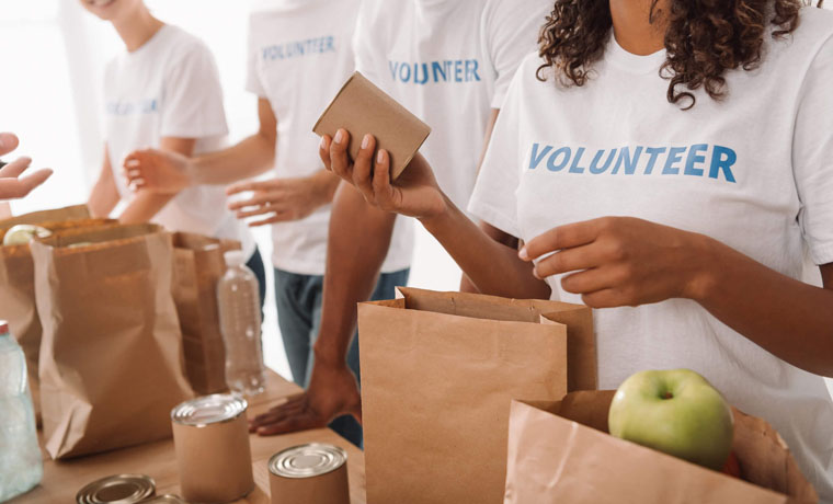 Grupo de voluntarios trabajando