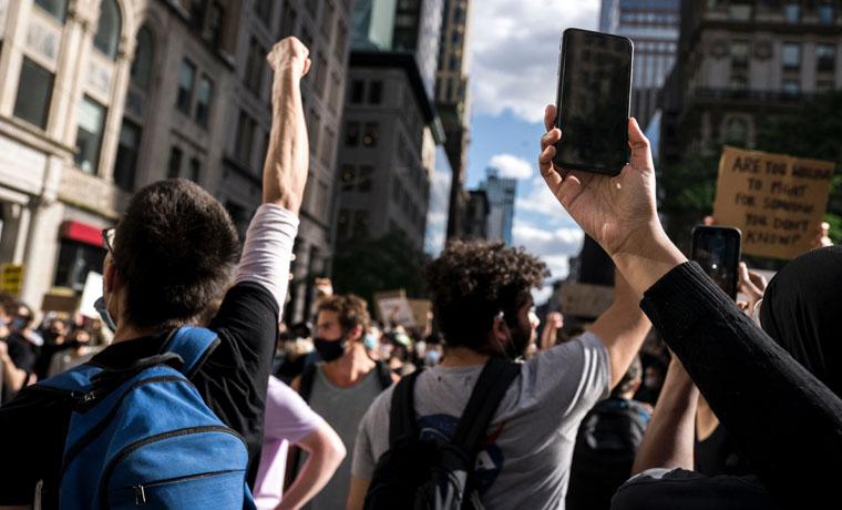 Manifestación pacífica